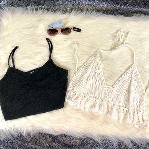 Lace/Crochet crop top bundle